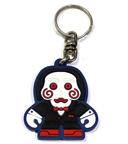 Chaveiro de borracha Jigsaw - Jogos mortais - boneco Terror