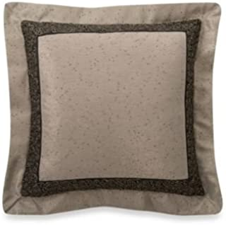 Waterford Linens Ormonde Black/Gold Square Throw Pillow, 18 Inches