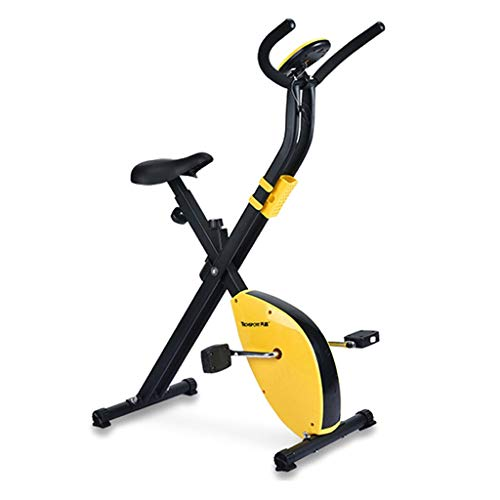 Bicicleta de ejercicios Bicicleta Giratoria Hogar Mini Bicicleta Plegable para Adelgazar Equipamiento De Ejercicios para Gimnasio Equipo Multifuncional para Ejercicios (Color : Yellow)