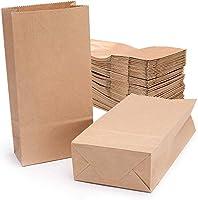 Massima qualità: realizzato con carta kraft di alta qualità, resistente, sicuro ed eco-compatibile Specifica: Dimensioni(altezza, larghezza, profondità)18x9x5.5cm, 70g/m2 100pz Usi multipli: per sacchetti regalo, borse per la spesa, sacchetti di cart...
