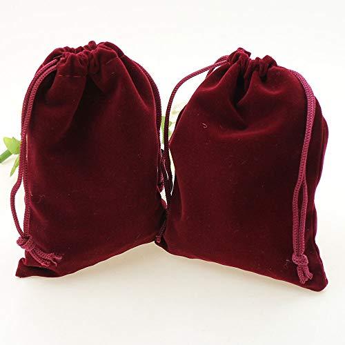 HOMIXES 50 Pezzi Morbido Velluto Sacchetto del Gioielli Sacchetti Regalo con Coulisse Portaconfetti per Nozze Regalo Caramella Partito Natale Mestiere Fai da Te