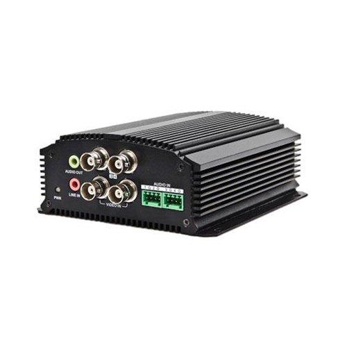 Hikvision DS-6704HWI 4 Channel Video Server, Dual Stream, 960H - 30FPS, Audio -4/1, RS-485, Alarm I/O -4/2, 12VDC