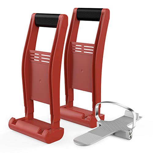 Panel Carrying Tools, Enpoint 2pcs Plywood Carriers + Drywall Foot Lifter Alloy, Sheetrock Panel Carry Handle Lifting Moving Slabs Melamine Drywall Cement Board Plasterboard Door
