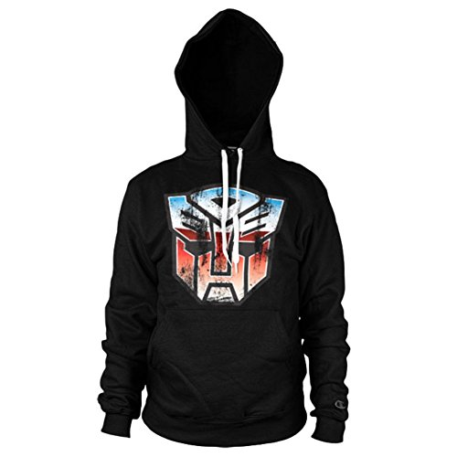 Transformers Distressed Autobot Officiel Bouclier Hoodie Haut à Capuche (Grand/Large)