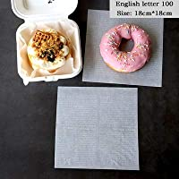 YVCHEN アクセサリー包装ベーキングペーパー食品包装紙パンのサンドイッチフライドポテト (Color : B1.100 sheets)