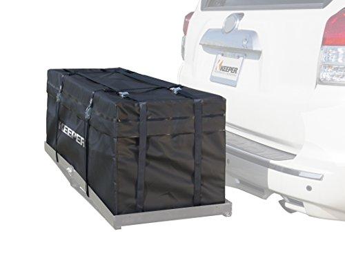 Keeper 07208 Wasserdichter Gepäckträger für Anhängerkupplung, 3,5 m³, schwarz, 11 Cubic Feet - Hitch Rack