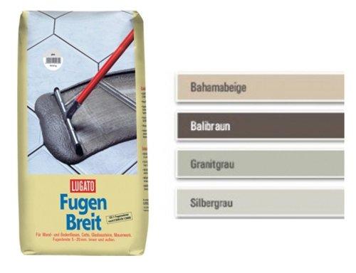 Lugato Fugenbreit 5 kg grau - Fugenmörtel für Klinker, Beton, Cotto