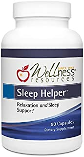 Sleep Helper with Theanine, Lemon Balm, Passion Flower & Taurine for Natural Sleep Support (90 Capsules)