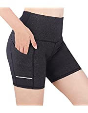 Korte Yoga Broek Met Zakken Voor, Sneldrogende Vrouwen Yoga Shorts, Vrouwen Ademende Fitness Workout Compressie Shorts