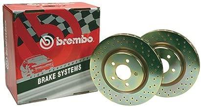 Brembo BDR37083 Crossed Drilled Front Brake Rotor