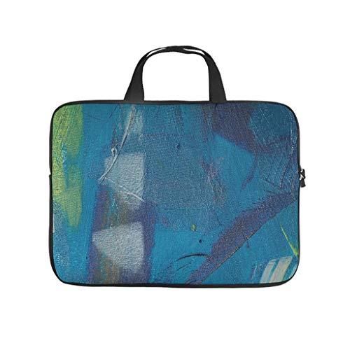 Oil Graffiti Canvas Texture Laptop Bag Waterproof Laptop Carry Case Stylish Notebook Bag for University Work Business