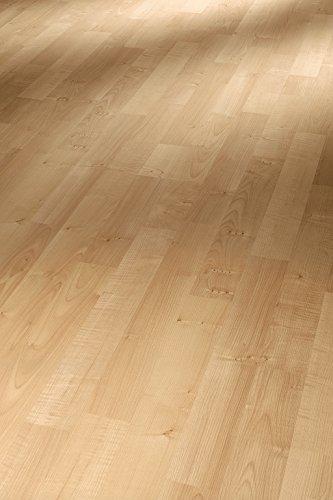 Parador Klick Laminat Bodenbelag Basic 200 Ahorn Natur Schiffsboden 3-Stab Holzstruktur 2,991m² hochwertige Holzoptik hell beige, 7 mm, einfache Verlegung