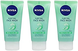 Nivea Purifying Face Wash For Mixed to Oily Skin (Pack of 3) 55ml