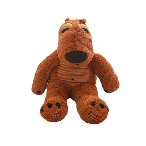 Peluches para-Oso Grande Muñeca Peluche Suave Y Cómodo Abrazo Oso Decoración Hogareña Marron Gris Muñeca De Trapo Regalo De Cumpleaños ( Color : Brown , Size : 160cm )