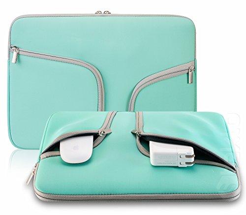 Steklo - Laptop-Hülle aus Neopren für 33 cm (13 Zoll) MacBook – ideale MacBook-Hülle mit Taschen für MacBook Pro 13 Zoll (33 cm) & MacBook Air 13 Zoll (33 cm) – Blaugrün
