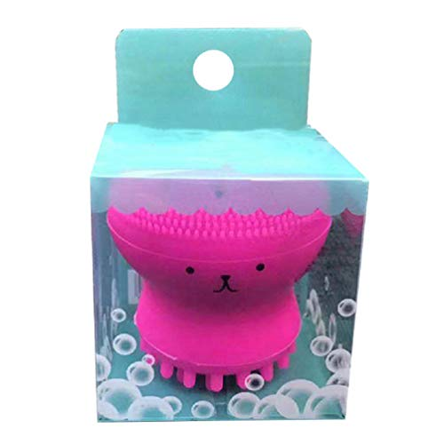 CartoonFacial Cleansing Brush, Octopus Silicone Deep Manual Cleaning Brush for entle Exfoliating, Skin Massaging, for All Skin Type