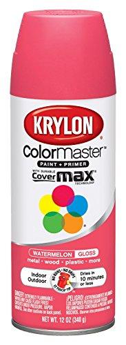 Krylon K05353307 ColorMaster Paint + Primer, Gloss, Watermelon, 12 oz.