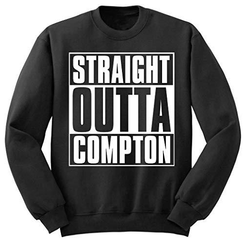 NWA Straight Outta Compton Pullover (S-2XL) Dr DRE Yella Easy E Snoop Dogg - Schwarz, Small