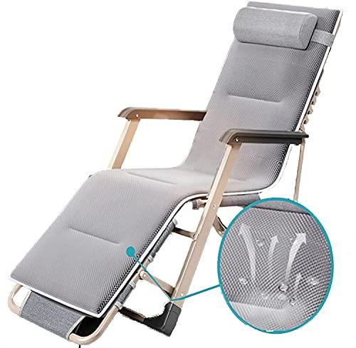 Patio Lounger Chair Zero Gravity Sedia reclinabile Sedia Sedia Lettini e poltrone reclinabili, Sunloungers Lounger Reclinabile Outdoor, Pieghevole Zero Sedie a gravità con cuscino, Sedia a sdraio recl