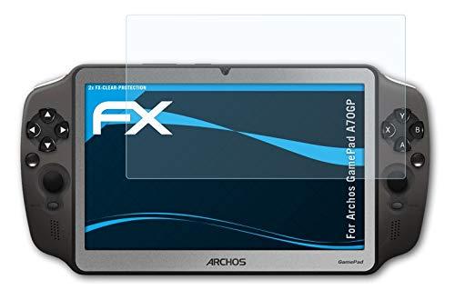 atFolix Schutzfolie kompatibel mit Archos Gamepad A70GP Folie, ultraklare FX Displayschutzfolie (2X)