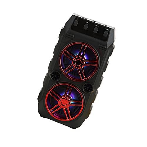 Baoblaze Altavoz Bluetooth Portátil, Altavoz Recargable Al Aire Libre Inalámbrico, Radio de Básico de Sonido Estéreo para El Rendimiento del Canto de La Fiesta - Rojo