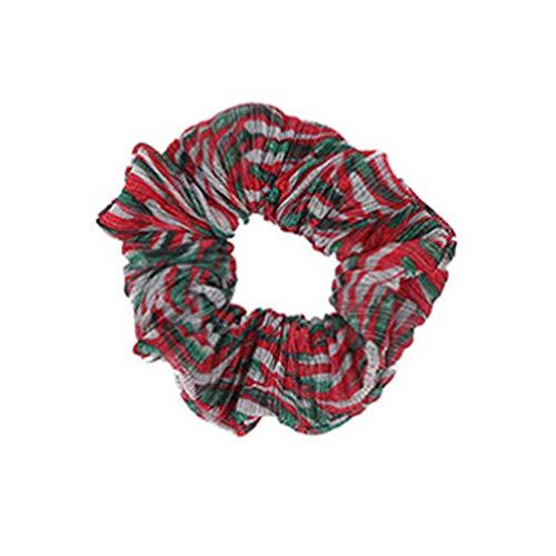 TUDUZ Bunte Haargummis Scrunchies Weihnachten Schmuck Haargummi Scrunchy Elastische Pferdeschwanz Haarband Haaschmuck für Mädchen Damen (A)
