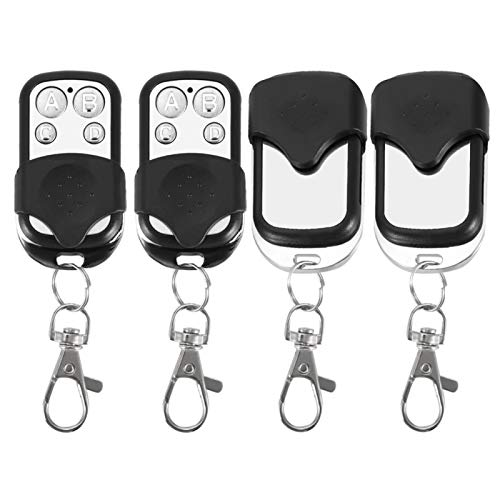 mando a distancia 433mhz-Llavero, llavero teledirigido inalámbrico de la clonación universal 4pcs para la puerta de la puerta del garaje del coche