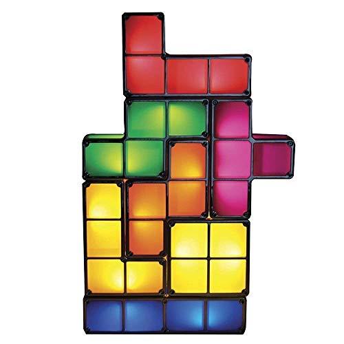 K.LSX Tetris Lampe Original Led Tischleuchte Retro Tetrislampe Leuchte Bausteine Tetris Leuchte