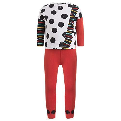 Tuc Tuc Sudadera Felpa+Leggings Punto NIÑA Conjunto de Ropa, Rojo (Rojo 3), 92 (Tamaño del Fabricante:2A) para Bebés