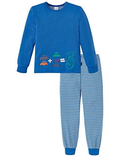 Schiesser Jungen Kn lang Zweiteiliger Schlafanzug, Blau (blau 800), 98