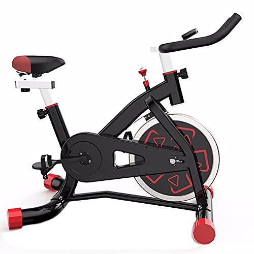 Bicicleta de ciclismo para interiores, bicicleta estacionaria Resistencia magnética Susurro silencioso para ejercicios cardiovasculares en casa Volante pesado Cómodo cojín de asiento con monitor digi