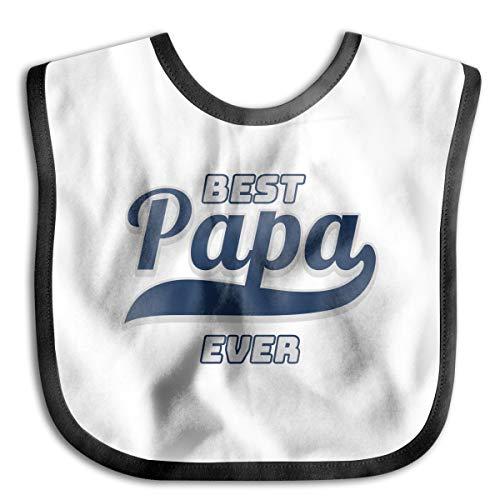 PANK11 Baby Best Papa Ever Feeder Bibs Girls Boys Washable Drooler Bibs Burp Cloth Stain Resistant