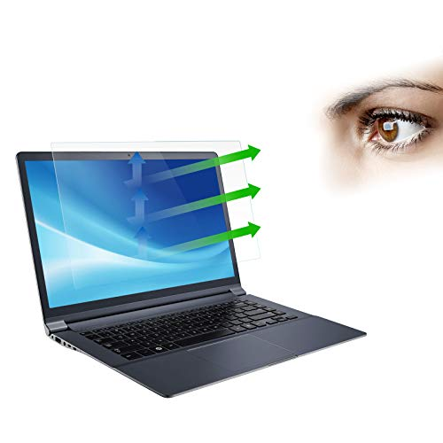 【2 Pack】Laptop Screen Protector Anti Blue Light Anti Glare for 15.6 Inch 16:9 Aspect Ratio Laptop/Touchscreen/TV/Monitor.Kolaura Blocking Screen Protector Anti Glare Filter Relieve Eye Strain 【 Contains 2 Sets Installation Cleaning Kit】