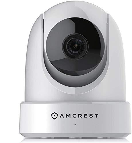 Amcrest 4 MP Ultra HD WiFi, telecamera di sorveglianza IP con Pan/Tilt, visione notturna, display a distanza, dual band 5 GHz / 2,4 GHz ~ 20 FPS, grandangolo 120° FOV. IP4M-1051W (bianco)