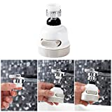 NEEV Enterprise 360 Degree Rotating Water-Saving Sprinkler, Faucet Aerator, 3-Gear Adjustable Head Nozzle Splash-Proof Filter Extender Sprayer for Kitchen Bathroom, Water Faucet Kitchen tap