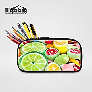 Gimax Cosmetic Bags & Cases - Dispalang Girls Travel Organizer Bag Women Cosmetic Case Candy Design Pencil Cases Girls Boys Children Small School Pencils Bags - (Color: Ivory)