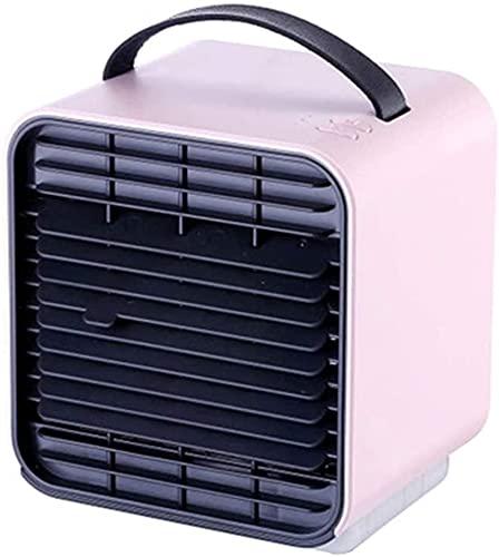 WSZYBAY Apartamento con Aire Acondicionado sin refrigeradores evaporativos de Agua, Ventilador de Aire Acondicionado portátil, Mini Ventilador de enfriamiento del Espacio Personal USB, purificador de