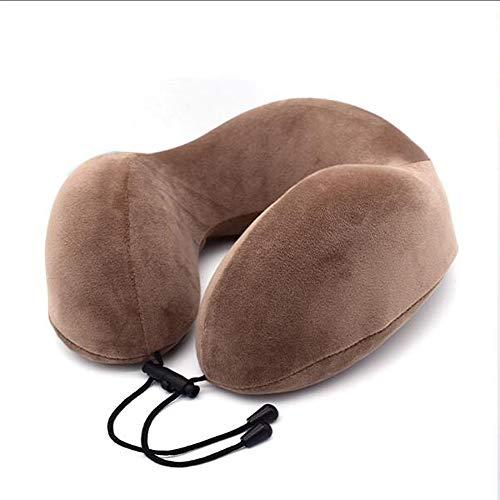 U-förmig Verstellbare Nackenstützkissen Verhindert, DASS der Kopf von Kippen nach vorne in jeder Sitzposition, der Komfort und die Unterstützung den Hals und Kopf,Braun