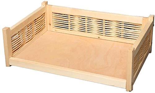 UIZSDIUZ Haustierbett Hundebett aus Holz Haustiere mit Matratze und Reling, leicht zu montieren Pet Lounge Sofa, Ideal for kleine und große Hunde Katzenbett (Color : Pink, Size : XXL(L100×W65×H28cm))