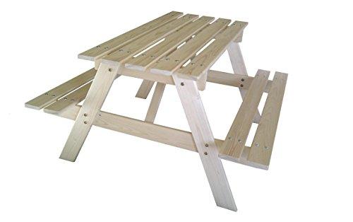 Outdoor Toys Mesita de picnic de madera, 90x70x50 cm, KT12813