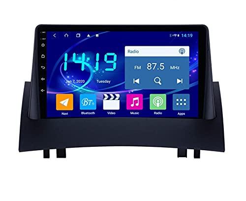ZBHWYD Adecuado para Renault Megane 2 Android Car GPS Navigator con Carplay Incorporado, Android 10 8 Core 4 + 64g Coche Radio de automóvil Player Multimedia Navegación GPS (Size : 6+128G)