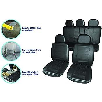 Black Pair Quick Fit Fabric Waterproof Air Bag Premium Seat Cover For Alfa