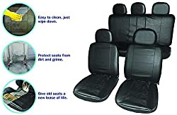 CAR CARE ACCESSORY: There is no sure way to avoid accidental spillages that ruin the best car seats. Streetwize leather look covers for car seats are made to surpass expectations. They are protective & aesthetic. UPGRADE CAR SEATING: Airbag compatibl...