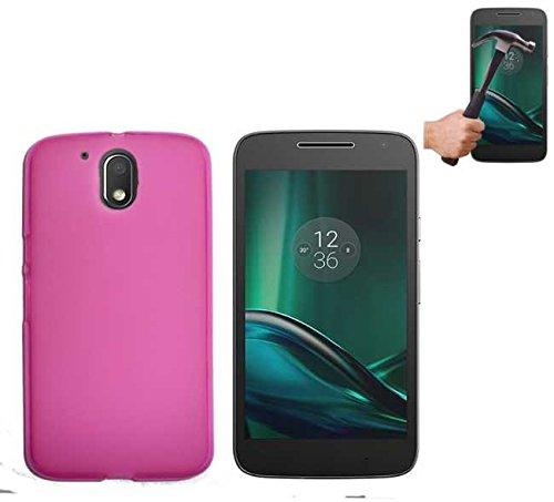 Todobarato24h Funda TPU Lisa Motorola Moto G4 Plus Rosa + Protector DE...