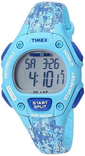 Timex Women's TW5M16200 Ironman Classic 30 Mid-Size Blue Dye Pattern Resin Strap Watch