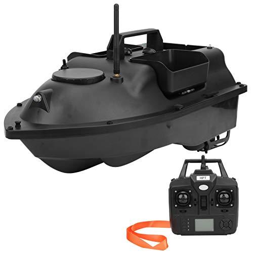 Barca Telecomandata, 500M Barca da Pesca Esca Telecomando, RC Fishing Bait Fish Finder con Doppio Motore e Luce Notturna a LED, Posizione GPS, Ritorno Automatico, 1.5 kg Caricoa, 5200mAh(Black)