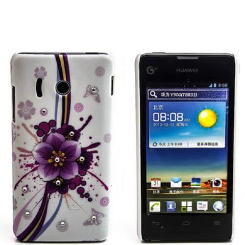 numerva kompatibel mit Huawei Ascend Y300 Hülle Motiv Case Ascend Y300 Schutzhülle Strass QJC-371