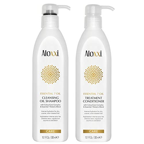 ALOXXI Essential 7 Botonic Blend Oil Cleansing Oil Shampoo + Conditioner Set, 10.1 oz