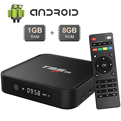 Android TV BOX, T95M Android TV Box 1GB RAM/8GB ROM Amlogic S905X Quad-Core TV Box, 2.4Ghz WiFi 4K HDMI Smart TV Box