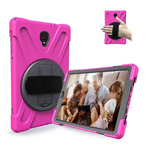 LONGSAND Compatible with Samsung Galaxy Tab S6 10.5' 2019/S6 Lite 10.4' Case Modern Tablet Shell for Woman Man PC Protective Cover with Kickstand & Adjustable Hand Strap,Pink,S6 Lite 10.4'
